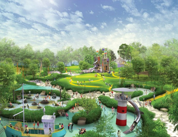 Rendering of play garden.  Source: Chicago Park District.